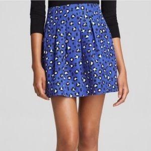 Kate Spade Blue Leopard Skirt